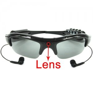 Easy 2 Button Control 2GB Sun Glasses Spy Camera with MP3 Player Function